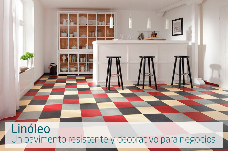 Lin leo un pavimento resistente y decorativo para - Linoleo pavimento ...