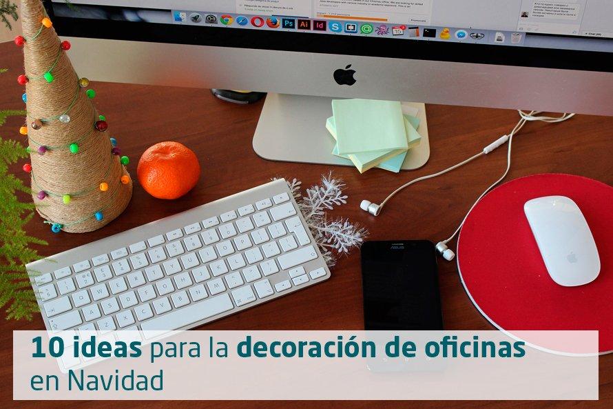 Ideas decoracion oficina affordable lugares de trabajo en - Decoracion de navidad para oficina ...