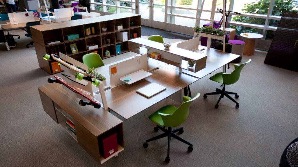 mesas de oficina rectangulares